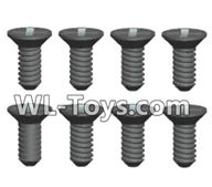 Wltoys 18429 Parts-Phillips Countersunk head screws-ST2X5kB(8pcs),Wltoys 18429 RC Car Spare Parts Replacement Accessories,1:18 Scale 4wd,2.4G 18429 rc racing car Parts,On Road Drift Racing Truck Car Parts