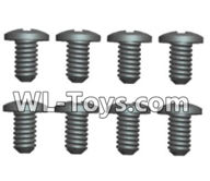 Wltoys 18429 Parts-Phillips pan head screws-2X5PM(8pcs),Wltoys 18429 RC Car Spare Parts Replacement Accessories,1:18 Scale 4wd,2.4G 18429 rc racing car Parts,On Road Drift Racing Truck Car Parts
