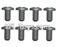 Wltoys 18429 Parts-Phillips Round head screws-ST2X5PB(8pcs),Wltoys 18429 RC Car Spare Parts Replacement Accessories,1:18 Scale 4wd,2.4G 18429 rc racing car Parts,On Road Drift Racing Truck Car Parts