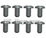 Wltoys 18429 Parts-Phillips Round head Machine screws-2.5X4PB(8pcs),Wltoys 18429 RC Car Spare Parts Replacement Accessories,1:18 Scale 4wd,2.4G 18429 rc racing car Parts,On Road Drift Racing Truck Car Parts