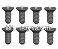 Wltoys 18429 Parts-Phillips Countersunk head Self-tapping screws-ST2X6kB(8pcs),Wltoys 18429 RC Car Spare Parts Replacement Accessories,1:18 Scale 4wd,2.4G 18429 rc racing car Parts,On Road Drift Racing Truck Car Parts