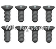 Wltoys 18429 Parts-Phillips Countersunk head Machine screws-2X6kB(8pcs),Wltoys 18429 RC Car Spare Parts Replacement Accessories,1:18 Scale 4wd,2.4G 18429 rc racing car Parts,On Road Drift Racing Truck Car Parts