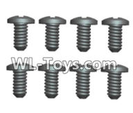 Wltoys 18429 Parts-Phillips pan head screws-ST2X6PB(8pcs),Wltoys 18429 RC Car Spare Parts Replacement Accessories,1:18 Scale 4wd,2.4G 18429 rc racing car Parts,On Road Drift Racing Truck Car Parts