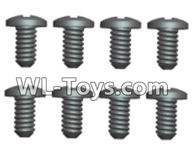 Wltoys 18429 Parts-Phillips Round head Self-tapping screws-ST2X8PB(8pcs),Wltoys 18429 RC Car Spare Parts Replacement Accessories,1:18 Scale 4wd,2.4G 18429 rc racing car Parts,On Road Drift Racing Truck Car Parts