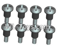 Wltoys 18429 Parts-Phillips Round head Self-tapping Step half tooth screws-ST2X8PB(8pcs),Wltoys 18429 RC Car Spare Parts Replacement Accessories,1:18 Scale 4wd,2.4G 18429 rc racing car Parts,On Road Drift Racing Truck Car Parts