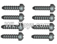 Wltoys 18429 Parts-Phillips Round head Self-tapping screws-ST2X10PB(8pcs),Wltoys 18429 RC Car Spare Parts Replacement Accessories,1:18 Scale 4wd,2.4G 18429 rc racing car Parts,On Road Drift Racing Truck Car Parts