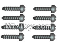 Wltoys 18429 Parts-Phillips Round head Self-tapping screws-ST2X12PB(8pcs),Wltoys 18429 RC Car Spare Parts Replacement Accessories,1:18 Scale 4wd,2.4G 18429 rc racing car Parts,On Road Drift Racing Truck Car Parts