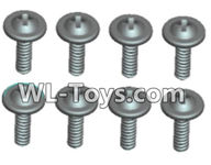Wltoys 18429 Parts-Phillips Round head Self-tapping screws With media-ST2X10PWB(8pcs),Wltoys 18429 RC Car Spare Parts Replacement Accessories,1:18 Scale 4wd,2.4G 18429 rc racing car Parts,On Road Drift Racing Truck Car Parts