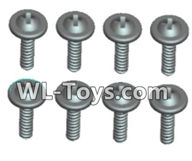 Wltoys 18429 Parts-Phillips Round head Self-tapping screws With media-ST2X14PWB(8pcs),Wltoys 18429 RC Car Spare Parts Replacement Accessories,1:18 Scale 4wd,2.4G 18429 rc racing car Parts,On Road Drift Racing Truck Car Parts