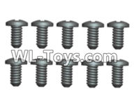 Wltoys 18429 Spare Parts-84-22 A929-62 Phillips Round head screws-2.3X5(8pcs),Wltoys 18429 RC Car Spare Parts Replacement Accessories,1:18 Scale 4wd,2.4G 18429 rc racing car Parts,On Road Drift Racing Truck Car Parts