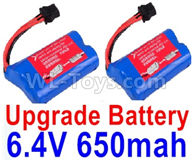 Wltoys 18628 Parts-Upgrade Lipo Batteries Pack,Upgrade 6.4V 800mAh Battery(2pcs)18628-0679,Wltoys 18628 Mods,Wltoys 18628 RC Crawler Car Spare Parts Replacement Accessories,1:18 18628 6wd rc rock racing car Parts,On Road Drift Racing Truck Car Parts