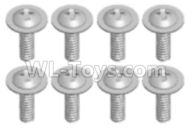 Wltoys 18628 Parts-Screws,Pan head screws with Tape(8pcs)-ST2.3X8PWB-18628-0676,Wltoys 18628 RC Crawler Car Spare Parts Replacement Accessories,1:18 18628 6wd rc rock racing car Parts,On Road Drift Racing Truck Car Parts