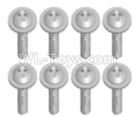 Wltoys 18628 Parts-Screws,Pan head screws with Tape(8pcs)-M2.5X8-18628-0125,Wltoys 18628 RC Crawler Car Spare Parts Replacement Accessories,1:18 18628 6wd rc rock racing car Parts,On Road Drift Racing Truck Car Parts