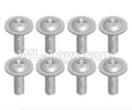 Wltoys 18628 Parts-Screws,Pan head screws with Tape(8pcs)-ST2.6X6PWB-18628-0558,Wltoys 18628 RC Crawler Car Spare Parts Replacement Accessories,1:18 18628 6wd rc rock racing car Parts,On Road Drift Racing Truck Car Parts