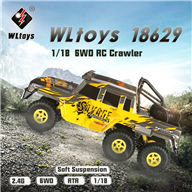 WLtoys 18629 rc car,6X6 rc rock crawler racing buggy,1/18 Wltoys 18629 High speed 1:18 Full-scale rc racing car,1: 18 Nini Electric four-wheel-climbing car with Brake Function Wltoys-Car-All