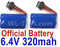 Wltoys 18629 Parts-Lipo Battery Packs,6.4V 320mAh Battery(2pcs)-18629-0679 ,Wltoys 18629 RC Crawler Car Spare Parts Replacement Accessories,1:18 18629 rc rock racing car Parts,On Road Drift Racing Truck Car Parts