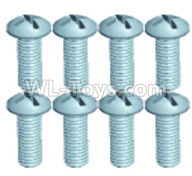 Wltoys 18629 Screws Parts-Pan head screws(8pcs)-ST2X6PB-18629-0553,Wltoys 18629 RC Crawler Car Spare Parts Replacement Accessories,1:18 18629 rc rock racing car Parts,On Road Drift Racing Truck Car Parts