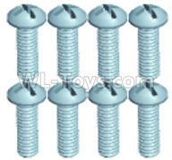 Wltoys 18629 Parts-Bottom half tooth Pan head screws(8pcs)-ST2.3X8PB-18629-0557,Wltoys 18629 RC Crawler Car Spare Parts Replacement Accessories,1:18 18629 rc rock racing car Parts,On Road Drift Racing Truck Car Parts