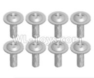 Wltoys 18629 Screws Parts-Pan head screws with Tape(8pcs)-ST2.6X6PWB-18629-0558,Wltoys 18629 RC Crawler Car Spare Parts Replacement Accessories,1:18 18629 rc rock racing car Parts,On Road Drift Racing Truck Car Parts
