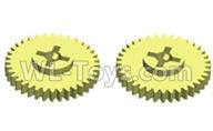 Wltoys 20402 Parts-0619 Reduction gear(2pcs),1/20 Wltoys 20402 RC Car Spare Parts Replacement Accessories