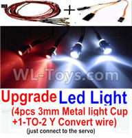 Wltoys 20402 Parts-0656 Upgrade LED Light set(Include the Upgrade LED light and 1-TO-2 Conversion wire),1/20 Wltoys 20402 RC Car Spare Parts Replacement Accessories