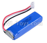 Wltoys 20402 Parts-Battery Packs,0658 7.4V 500mah Battery(1pcs),1/20 Wltoys 20402 RC Car Spare Parts Replacement Accessories