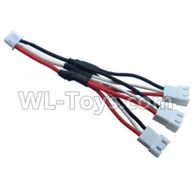 Wltoys 20402 Parts-Upgrade 1-to-3 coversion Charging cable,1/20 Wltoys 20402 RC Car Spare Parts Replacement Accessories