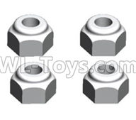 Wltoys 20402 Parts-A929-95 M3 Anti loose nut(4PCS),1/20 Wltoys 20402 RC Car Spare Parts Replacement Accessories