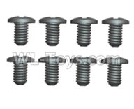 Wltoys 20402 Parts-0416 Cross recessed pan head screws(8PCS)-ST1.7X4PB,1/20 Wltoys 20402 RC Car Spare Parts Replacement Accessories