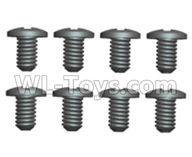 Wltoys 20402 Parts-0553 Cross recessed pan head screws(8PCS)-ST2x6PB,1/20 Wltoys 20402 RC Car Spare Parts Replacement Accessories