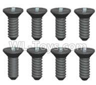 Wltoys 20404 Parts-0635 Countersunk head Cross recessed tapping screws(8pcs)-ST2X12KB,1/20 Wltoys 20404 RC Car Spare Parts Replacement Accessories