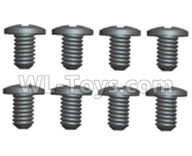 Wltoys 20404 Parts-0636 Round Head Machine Screws(8pcs)-2X6PM,1/20 Wltoys 20404 RC Car Spare Parts Replacement Accessories