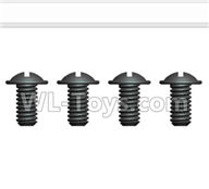 Wltoys 20402 Parts-0638 Round Head Screws with cross media(4pcs)-ST 2.5X5PWM D5,1/20 Wltoys 20402 RC Car Spare Parts Replacement Accessories