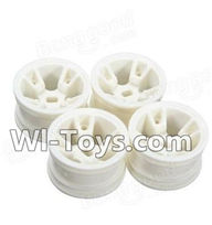 Wltoys A202 Parts-07 A202 Wheel Hub,Car wheel(4pcs)-(Can be used for A202 A212 A222,And you must buy the A202 Tire leather),Wltoys A202 A212 A222 1/24 Mini rc Drift Car Parts desert Off Road Buggy parts