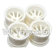 Wltoys A222 Parts-09 A222 Wheel Hub,Car wheel(4pcs)-(Can be used for A202 A212 A222,And you must buy the A222 Tire leather),Wltoys A202 A212 A222 1/24 Mini rc Drift Car Parts desert Off Road Buggy parts