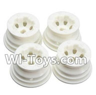 Wltoys A232 Parts-10 A232 Wheel Hub,Car wheel(4pcs)-(Can be used for A202 A212 A222,And you must buy the A232 Tire leather),Wltoys A202 A212 A222 1/24 Mini rc Drift Car Parts desert Off Road Buggy parts