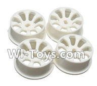 Wltoys A242 Parts-11 A242 Wheel Hub,Car wheel(4pcs)-(Can be used for A202 A212 A222,And you must buy the A242 Tire leather),Wltoys A202 A212 A222 1/24 Mini rc Drift Car Parts desert Off Road Buggy parts