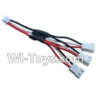 Wltoys A202 A212 A222 Parts-Upgrade 1-to-3 coversion Charging cable,Wltoys A202 A212 A222 1/24 Mini rc Drift Car Parts desert Off Road Buggy parts