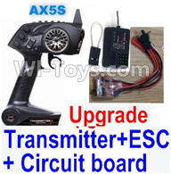 Wltoys A202 A212 A222 Parts-Upgrade AX5S Transmitter & Upgrade 30A ESC & Upgrade Circuit board,Wltoys A202 A212 A222 1/24 Mini rc Drift Car Parts desert Off Road Buggy parts