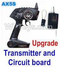 Wltoys A202 A212 A222 Parts-Upgrade AX5S Transmitter(With Speed Limit function,0-200M control) & Upgrade Circuit board,Wltoys A202 A212 A222 1/24 Mini rc Drift Car Parts desert Off Road Buggy parts