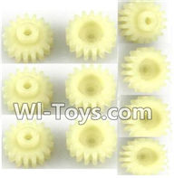 Wltoys A202 A212 A222 Parts-17T Gear(10pcs),Wltoys A202 A212 A222 1/24 Mini rc Drift Car Parts desert Off Road Buggy parts