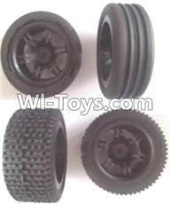 Wltoys A303 Parts-Front and Rear wheel unit(Total 4pcs),1/12 Wltoys A303 RC Car Spare Parts Replacement Accessories