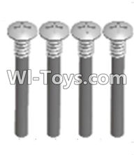 Wltoys A303 Parts-upper half tooth screws(M3X36 PMO)-4PCS,1/12 Wltoys A303 RC Car Spare Parts Replacement Accessories