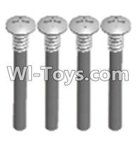 Wltoys A303 Parts-Cross recessed round head upper teeth Srews(M3X30 PM D5.5)-4pcs,1/12 Wltoys A303 RC Car Spare Parts Replacement Accessories