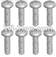 Wltoys A303 Parts-Round head tapping screw(M2.6X16 PB)-8pcs,1/12 Wltoys A303 RC Car Spare Parts Replacement Accessories