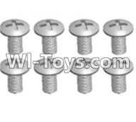 Wltoys A303 Parts-Cross recessed round head screws(M3X14 PM)-8pcs,1/12 Wltoys A303 RC Car Spare Parts Replacement Accessories
