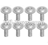 Wltoys A303 Parts-Cross recessed round head screwS(M2.6X6 PWB)-8pcs,1/12 Wltoys A303 RC Car Spare Parts Replacement Accessories