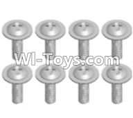 Wltoys A303 Parts-Round head screw with dielectric(M2.5X6X6)-8pcs,1/12 Wltoys A303 RC Car Spare Parts Replacement Accessories