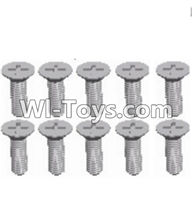 Wltoys A303 Screws Parts-L959-54 Countersunk head self tapping screw(M2.6X8)-10pcs,1/12 Wltoys A303 RC Car Spare Parts Replacement Accessories