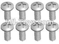 Wltoys A303 Screws Parts-L959-57 Round head self tapping screw(M2.6X8)-10pcs,1/12 Wltoys A303 RC Car Spare Parts Replacement Accessories